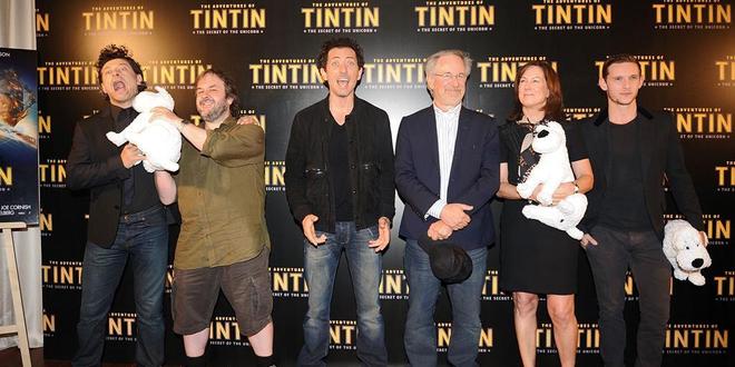 Steven Spielberg et Peter Jackson à Paris pour Tintin ! (photos)