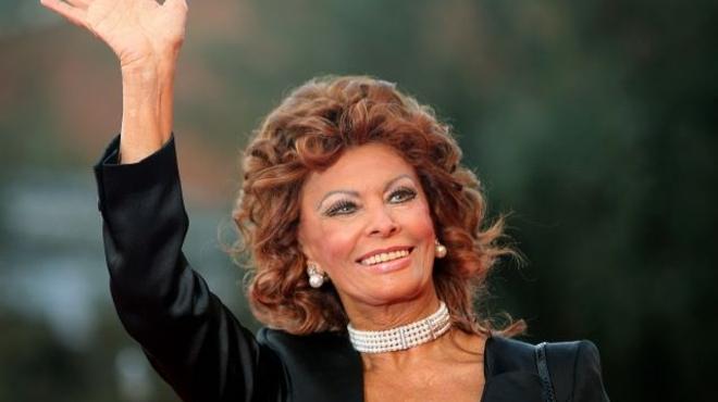 Sophia Loren devant la caméra de son fils