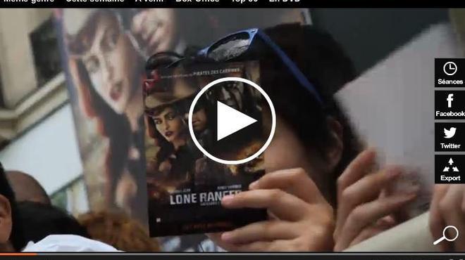 Revivez l'avant-première parisienne de Lone Ranger (Vidéo)