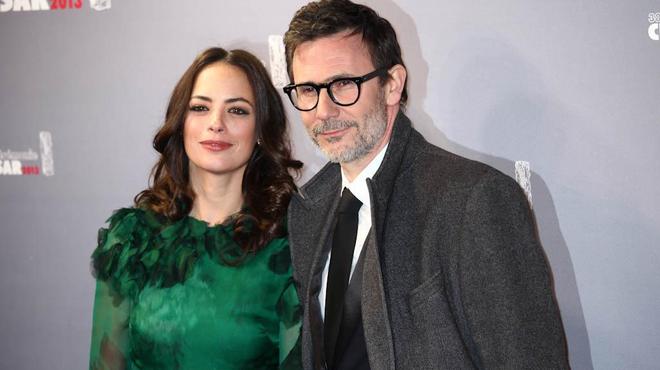 Michel Hazanavicius et Bérénice Bejo au boulot