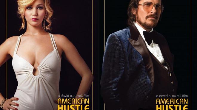 American Hustle : Affiches rétro pour Jennifer Lawrence, Bradley Cooper & Christian Bale