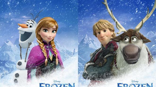 Les personnages de Frozen s'affichent pour Disney