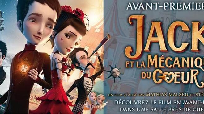 Jack et la Mécanique du Coeur en avant-première dans toute la France le 29 Décembre