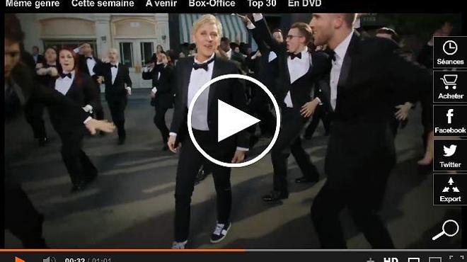 Ellen DeGeneres prend la pose pour l'affiche des Oscars 2014