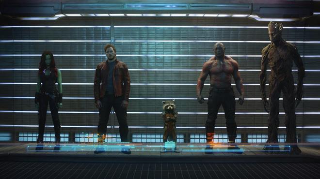 Les Gardiens de la galaxie jouent les suspects (photo)