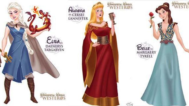 Les héroïnes Disney à la sauce Game of Thrones !