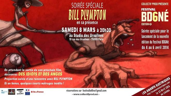 Bill Plympton, l'invité d'honneur de la soirée d'ouverture du Festival BD6Né