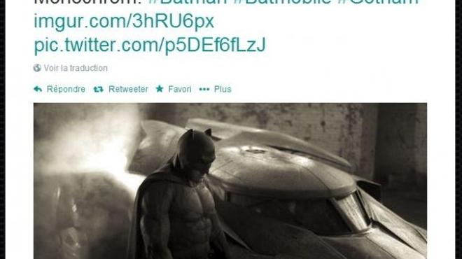 Une première photo de Ben Affleck en Batman dévoilée par Zack Snyder