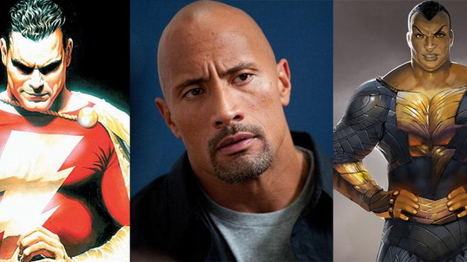Entre Shazam et Black Adam, le coeur de The Rock balance