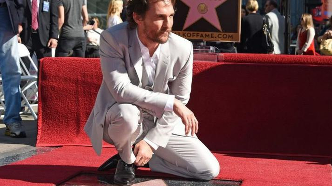 Matthew McConaughey obtient son étoile à Hollywood !