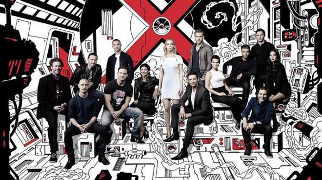 Les mutants X-Men réunis sur une photo