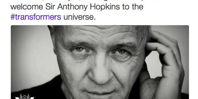 Anthony Hopkins rejoint Transformers 5 !