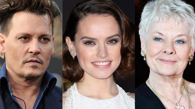 Johnny Depp, Daisy Ridley et Judi Dench embarquent pour l'Orient Express