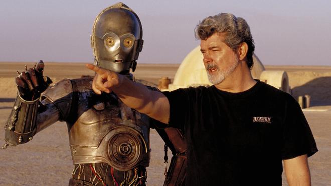 C3-PO et George Lucas