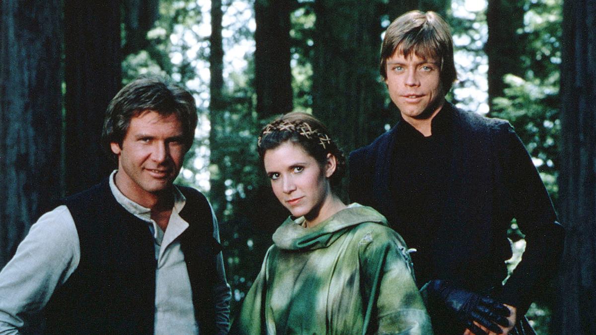 Han solo, Leia Organa et Luke Skywalker (Star Wars épisode 6)
