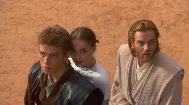 Anakin skywalker, Padme Amidala, Obi-Wan Kenobi (Star wars épisode 2)