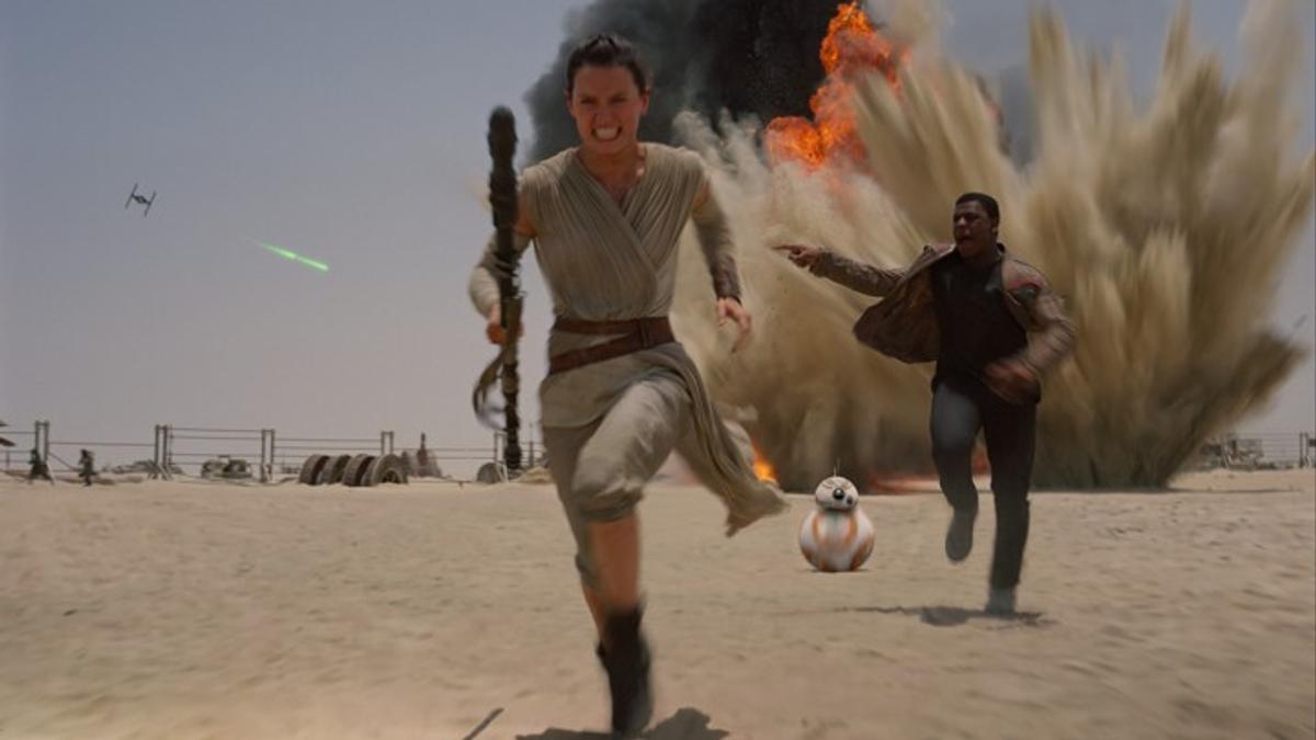 Rey, Finn et BB-8 (Star Wars épisode 7)