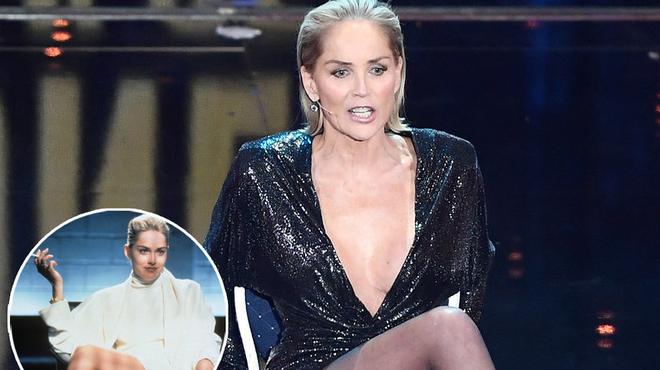Sharon Stone rejoue la fameuse scène de Basic Instinct