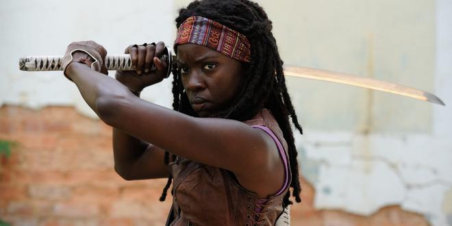 The Walking Dead : Michonne pourrait apparaître dans le film sur Rick
