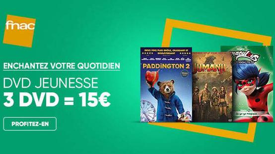 Le bon plan de la Fnac : 3 DVD à tout petit prix dans une large sélection