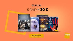 Promotion Fnac : une sélection de 5 DVD pour 30 €