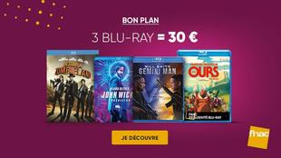 Bon plan Fnac : un choix de 3 Blu-ray pour 30€ parmi une grande sélection