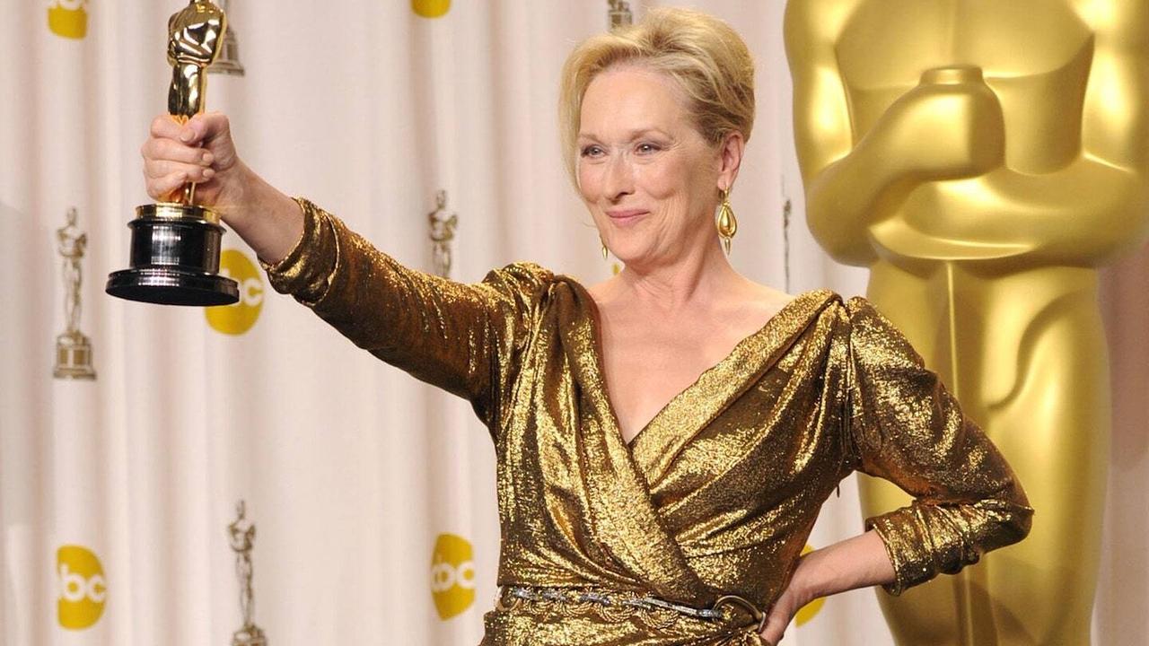 A atriz Meryl Streep coleciona filmes de sucesso.