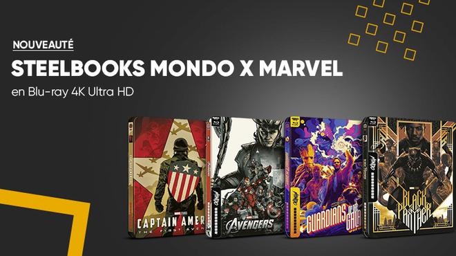 Les super-héros Marvel disponibles en Steelbook Mondo Blu-ray 4K Ultra HD à la Fnac