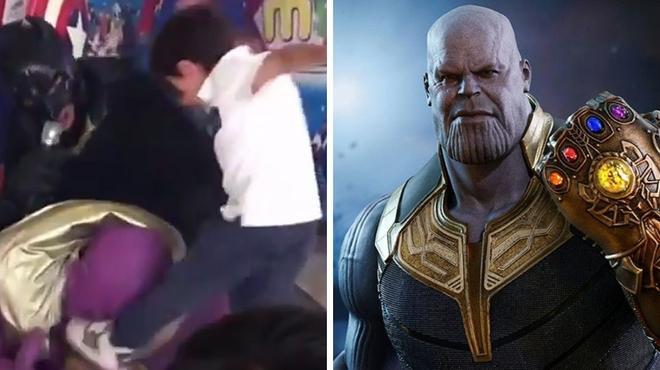 Avengers : cette vidéo d'enfants frappant Thanos devient virale