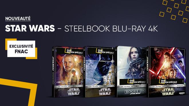 Tous les films Star Wars arrivent à la Fnac en Exclusivité Steelbook Blu-ray 4K Ultra HD