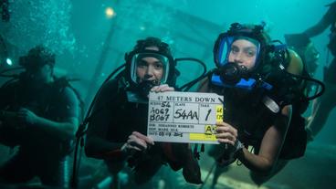 L'image du jour : le tournage épuisant du film 47 Meters Down